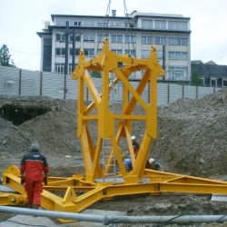 2007 - Montage d'une grue Potain